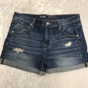 Mossimo Ladies Boyfriend Midi Denim Shorts